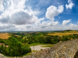 Panoramic on the Lauragais green & yellow valley...